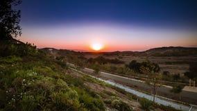 4K solnedgång Timelapse Kalifornien arkivfilmer
