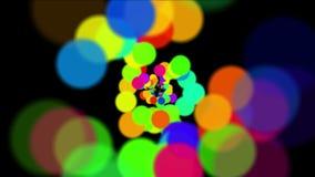 4k sottraggono i cerchi, fondo della bolla delle bolle, tunnel delle particelle dei fuochi d'artificio dei punti royalty illustrazione gratis