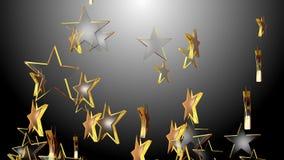 4k sottraggono il fondo a cinque punte di simbolo dello spazio di arte di progettazione della particella della stella 3d illustrazione vettoriale