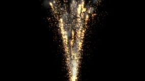 4k sottraggono il fondo del fuoco d'artificio della fiamma di colore, contesto della particella di esplosione di festa video d archivio