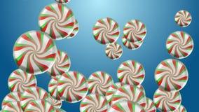 4k sottraggono il fondo del regalo di festa della particella della sfera della palla della caramella delle lecca-lecca 3d royalty illustrazione gratis