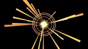 4k sottraggono il fondo di esplosione delle particelle di energia, luce di radiazione dei raggi dei tunnel archivi video
