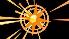 4k sottraggono il fondo di esplosione delle particelle di energia, luce di radiazione dei raggi dei tunnel video d archivio
