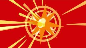 4k sottraggono il fondo di esplosione delle particelle di energia, luce di radiazione dei raggi dei tunnel illustrazione di stock