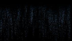 4k sottraggono il fondo di fase di arte della particella dei fuochi d'artificio, liquido di caduta della cascata illustrazione vettoriale