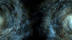 4k sottraggono il viaggio di gorgo del foro della particella dei fuochi d'artificio del tunnel dell'universo di vortice di energi archivi video