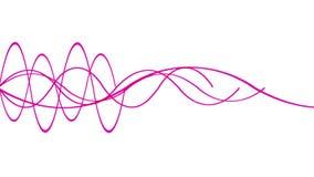 4k sottraggono la linea fondo, modello sano, la tecnologia del ritmo dell'ondulazione del segnale di radar royalty illustrazione gratis