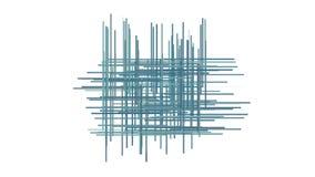 4k sottraggono le linee fondo trasversale, fibra della rete a maglia parziale, tagliatelle della corda di arte della geometria video d archivio