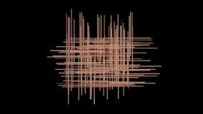 4k sottraggono le linee fondo trasversale, fibra della rete a maglia parziale, tagliatelle della corda di arte della geometria stock footage