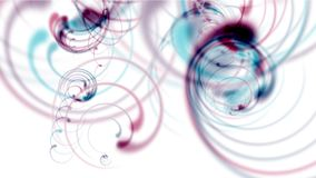 4k soustraient la courbe en spirale de boucle, lignes de remous de rayures, néon de soufflerie de cyclones banque de vidéos