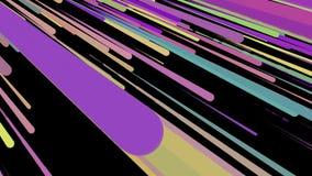 4K soustraient le fond animé des rayures colorées et conviennent aux graphiques de mouvement illustration de vecteur