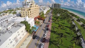 4k South Beach aerial video stock footage