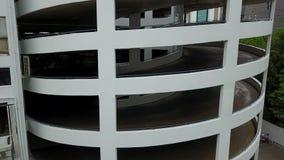 4K spirala parking samochód zbiory wideo