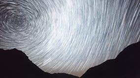 4K Star Trails Night Sky Cosmos Galaxy Time-lapse over plateau on Kackar Mountains, Turkey. 4K Star Trails Night Sky Cosmos Galaxy Time-lapse over plateau on stock footage