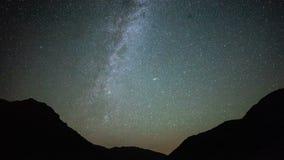 4K Star Trails Night Sky Cosmos Galaxy Time-lapse over plateau on Kackar Mountains, Turkey. stock footage