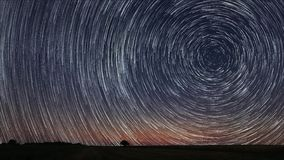 4K Star Trails Time-lapse stock video