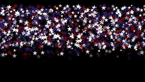 4k Stars particle background,USA United States American flag five-pointed star. stock video