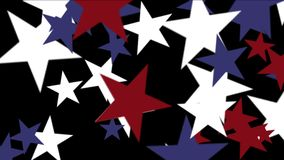 4k Stars particle background,USA United States American flag five-pointed star. 4k Abstract stars particles background,cartoon USA United States American flag stock footage