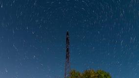 4K Startrails elektryczna linia Kometa tryb zbiory wideo