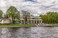 K-2 State Residency state villa on Kamenny *Stone island on the Malaya Nevka river embankment in St. Petersburg Royalty Free Stock Images