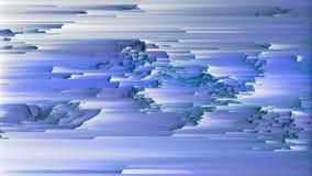 4K stilisierte in hohem Grade Daten Mosh Verzerrung, Pixel-Sortieren und Störgeräusch stock abbildung