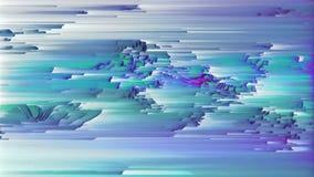 4K stilisierte in hohem Grade Daten Mosh Verzerrung, Pixel-Sortieren und Störgeräusch lizenzfreie abbildung