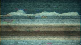 4K stilisierte Pixelgeräuschstörschub-Fehlerschaden stock video