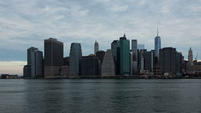 4k Sunrise timelapse of Manhattan skyline in new york - USA stock footage