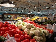 K Supermarket Ratina. Fruits and vegetables section in the K-supermarket Ratina in Tampere, Finland Royalty Free Stock Images