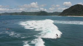 4K surrar längd i fot räknat Indonesien Lombok stock video