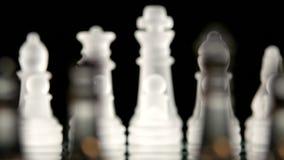 4K Szachowej gry deska na czarnym tle zbiory