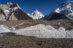 K2 szczytu halny po drugie wysoki halny szczyt w świacie, Kara Zdjęcia Royalty Free