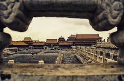 Kąt Cesarski dom, Pekin, Chiny Zdjęcie Stock