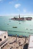 kąta wysoki laguny Venice widok Zdjęcie Stock