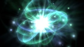 4k tech science energy radiation rays ripples star explosion,particle fireworks.