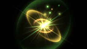 4k techniki nauki napromieniania promieni energetyczne czochry grają główna rolę wybuch, cząsteczka fajerwerki ilustracji