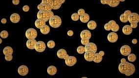 4k technologii i inżynierii ruchu tło z bitcoin pada ilustracji