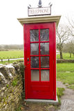 K1 telephone box, UK. Earliest model of standard UK telephone kiosk, the K1. This is a replica after the original was accidentally destroyed during the filming Stock Photography