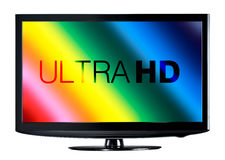 4K televisievertoning royalty-vrije stock afbeeldingen