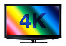 4K television display Stock Images