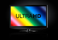 4K television display Royalty Free Stock Photography