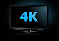 4K television display Royalty Free Stock Photo