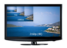 4K television display Royalty Free Stock Image