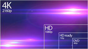4K television resolution display with comparison of resolutions. 3D render. 4k resolution preview on tv vector illustration