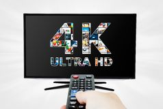 4K television resolution technology Royalty Free Stock Image