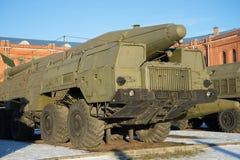 ` 9K76 Temp-s ` sowjetische Rakete der Abschussrampe komplexer sonniger Wintertag St Petersburg Lizenzfreies Stockbild