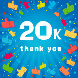 20k thank you banner. Royalty Free Stock Photography
