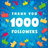 1k thank you followers Stock Images