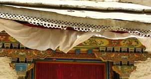 4k Tibet tradition houses with religion pattern,lhasa resident area. stock video footage