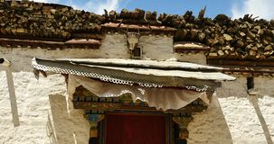 4k Tibet tradition houses with religion pattern,lhasa resident area. stock footage